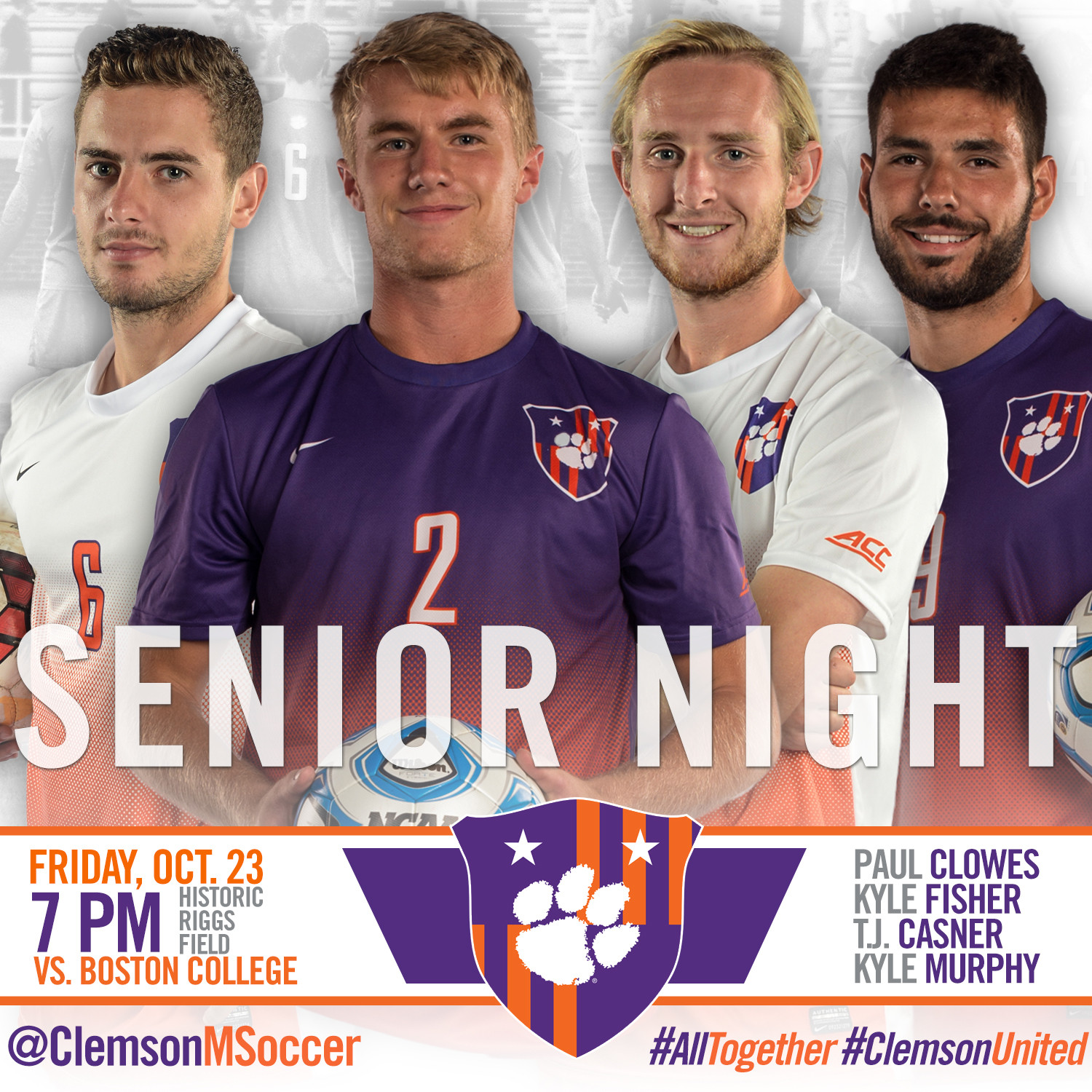 No. 4 Clemson to Honor Seniors, Host No. 25 Boston College Friday