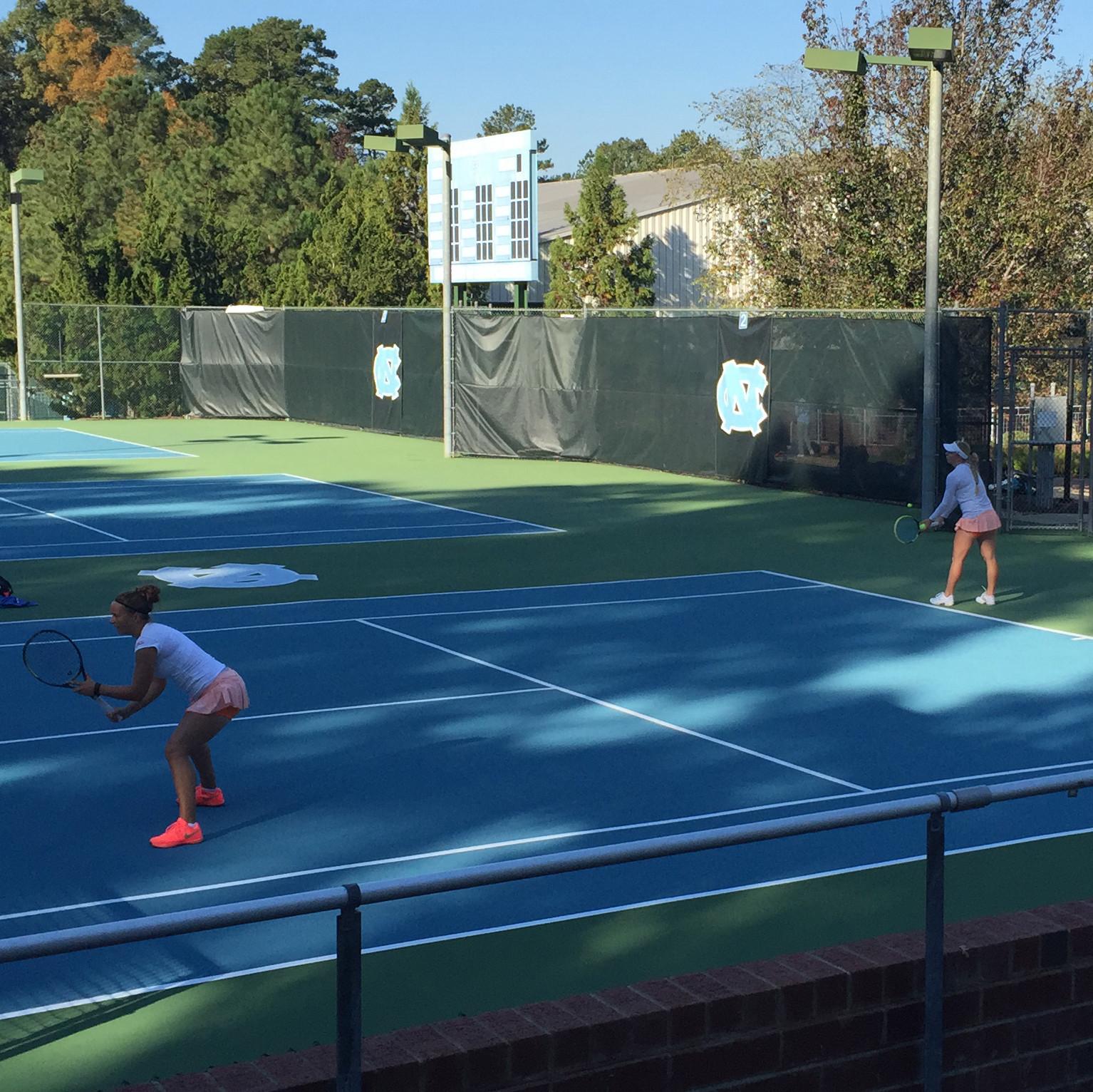 Eidukonyte & Piontek Advance to Doubles Quarterfinals at ITA Carolina Regional