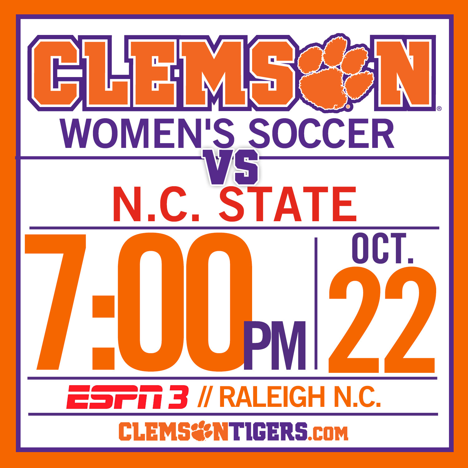 #6 Tigers Travel to Take on Wolfpack