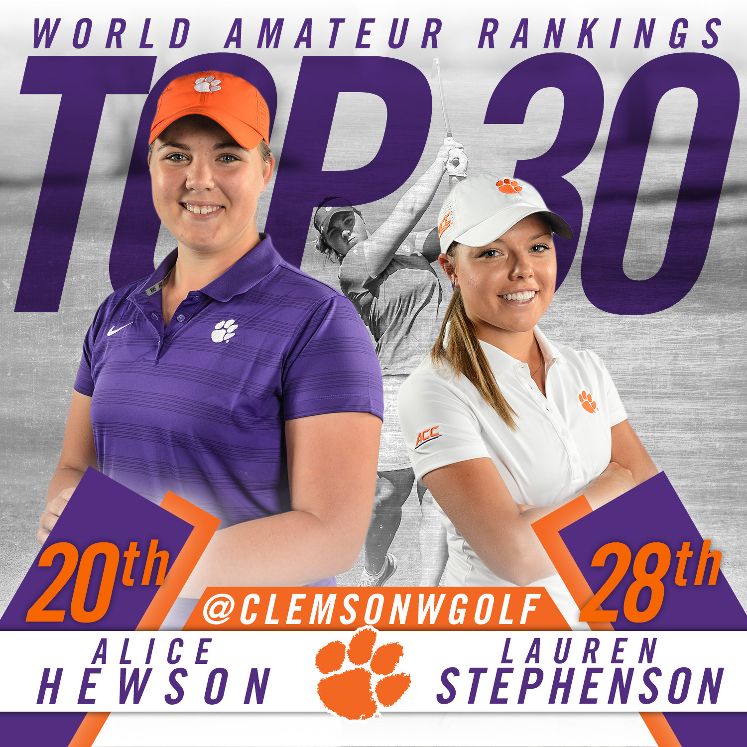 Hewson and Stephenson in Top 30 of World Amateur Rankings