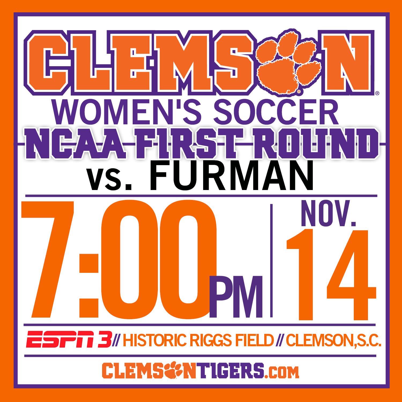 Clemson Hosts Furman in NCAA First Round