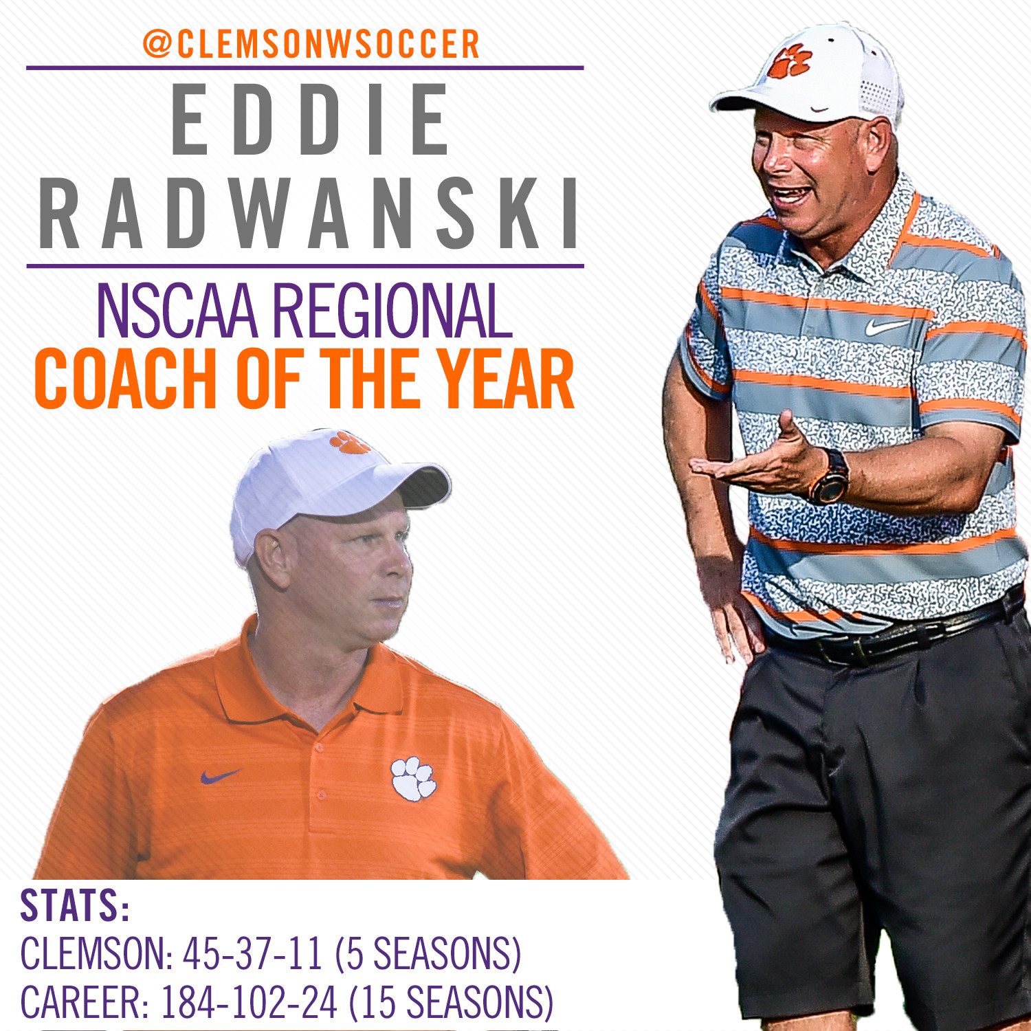 Radwanski Earns Coach of the Year Recognition