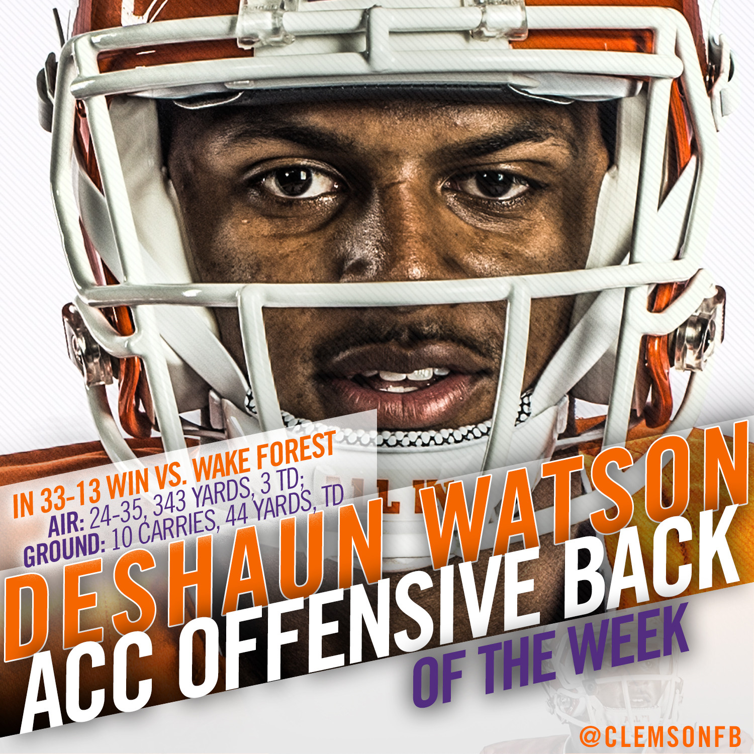 Watson ACC Player of the Week for Fourth Time.