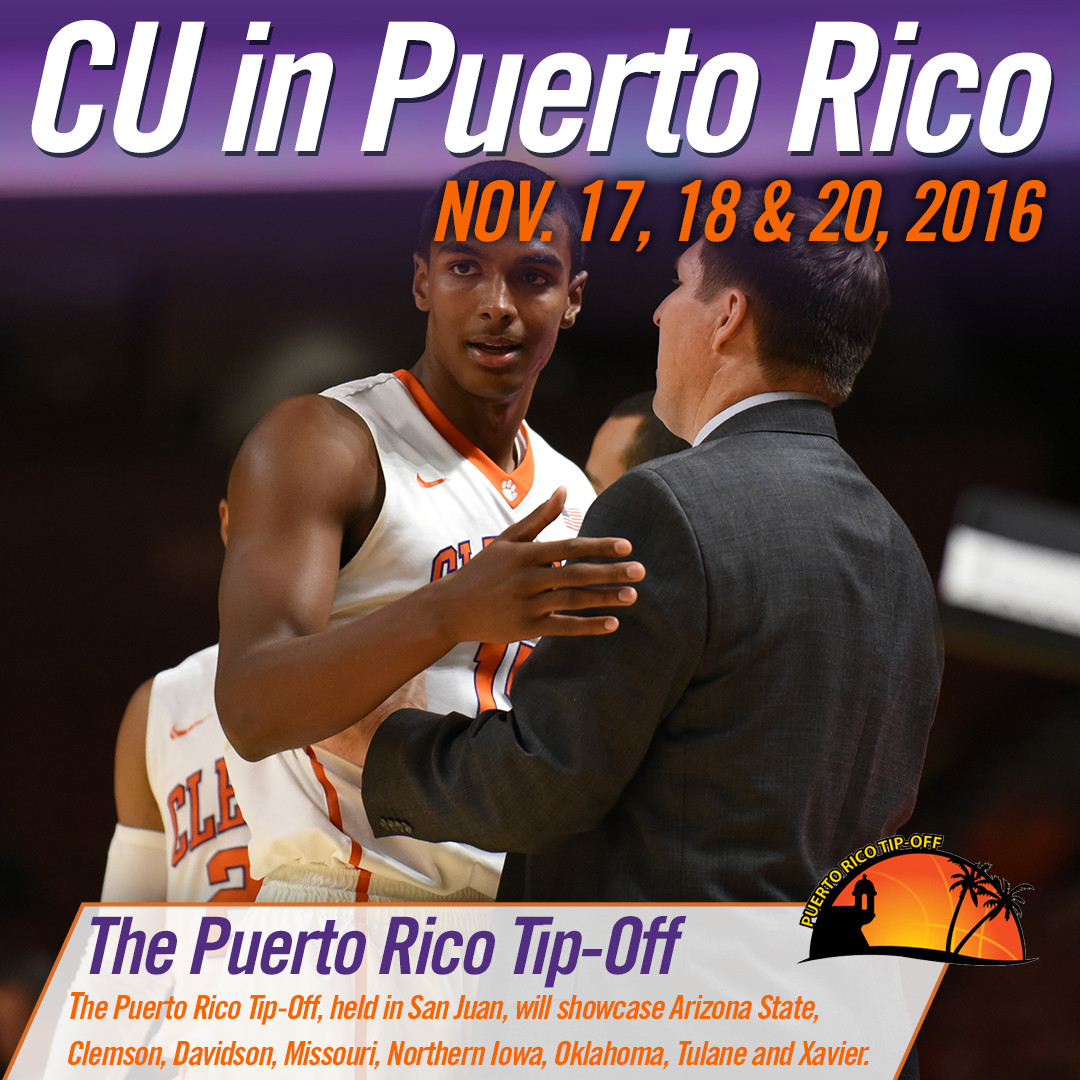 Tigers Tabbed for 2016 Puerto Rico Tip-Off