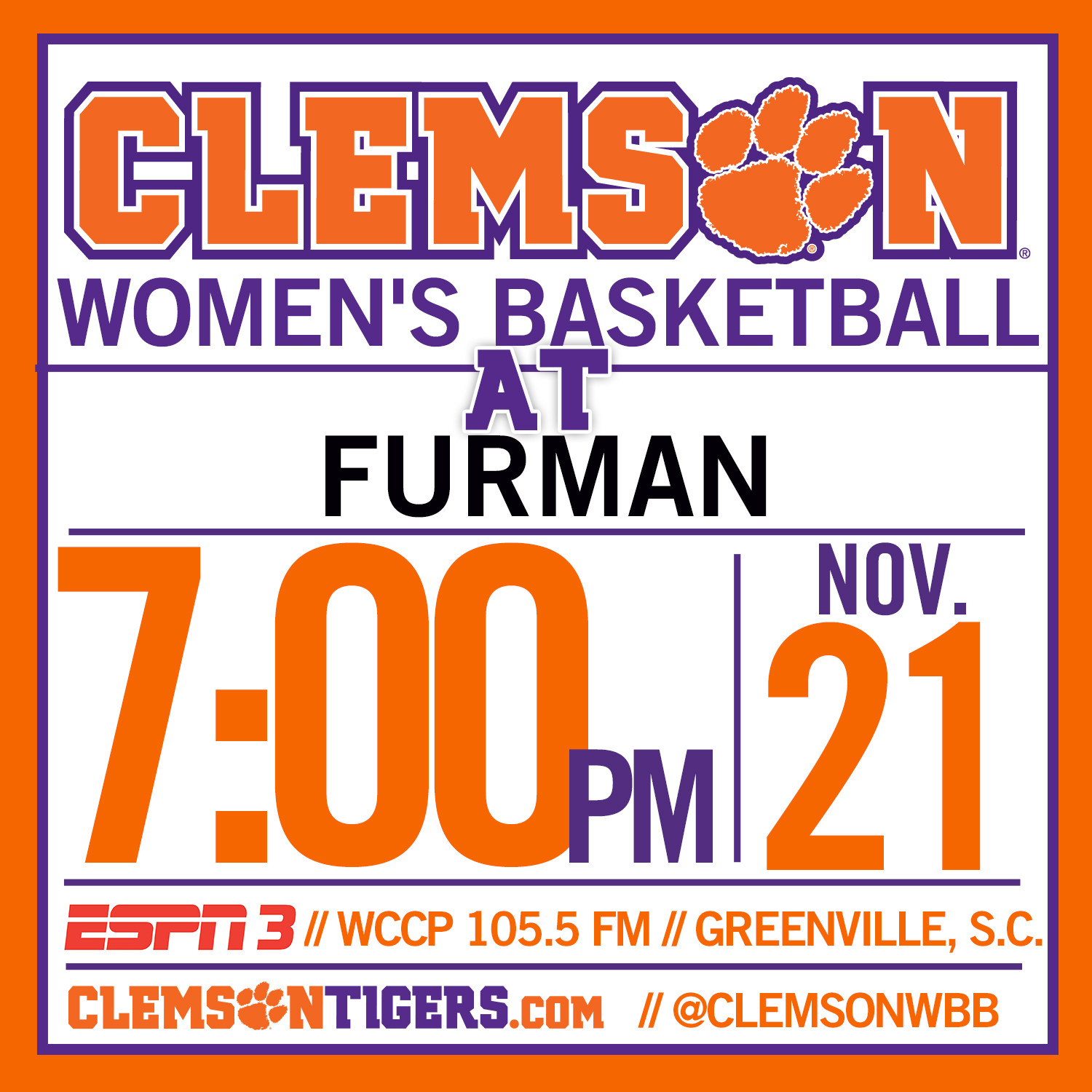 Tigers Face First Road Test at Furman