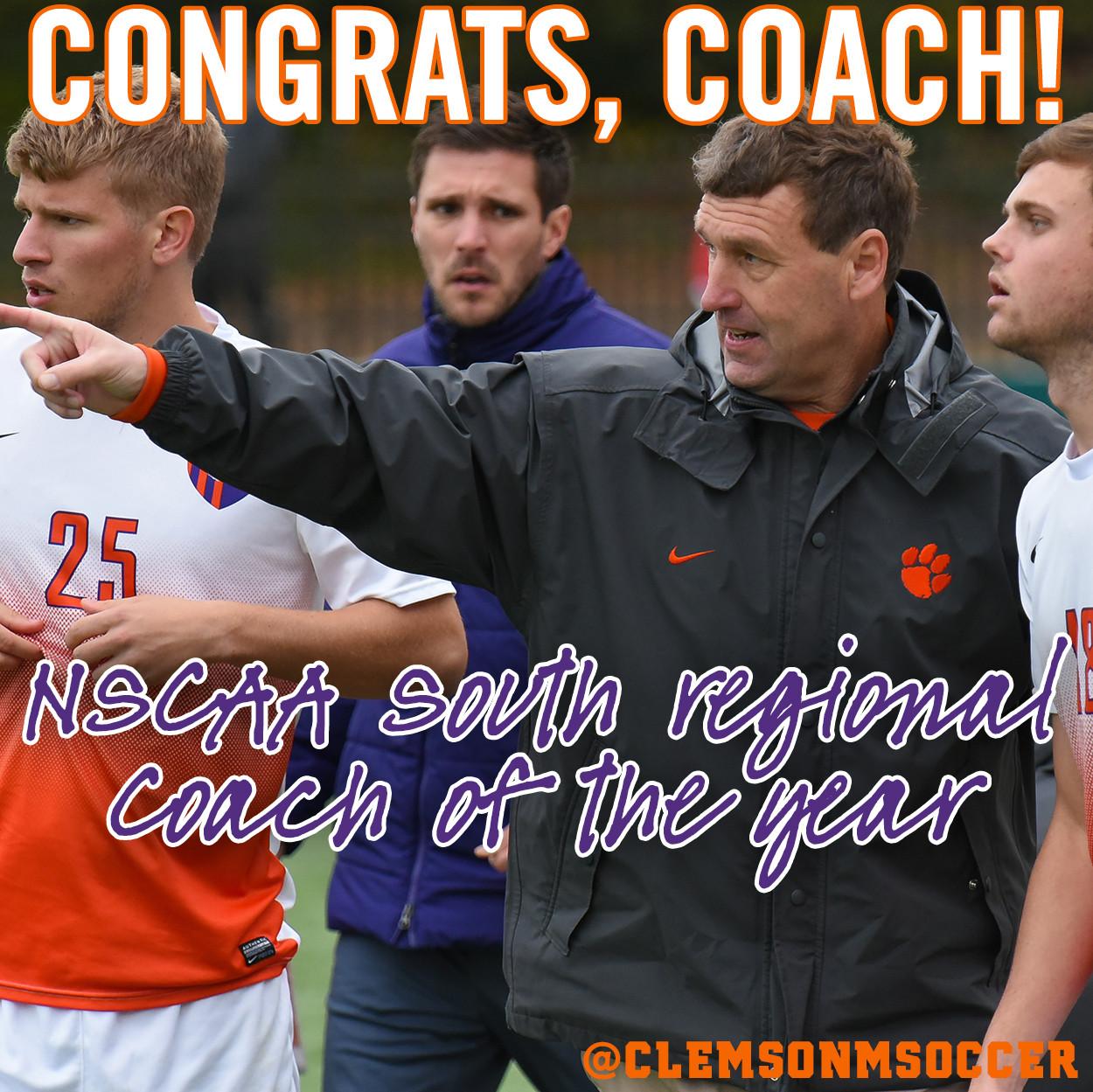 Noonan Named NSCAA Regional Coach of the Year