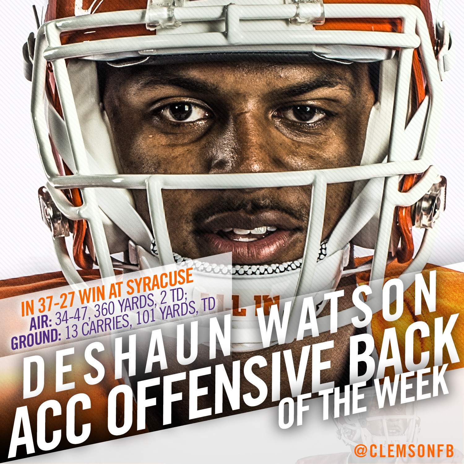 Watson ACC Offensive Back of the Week