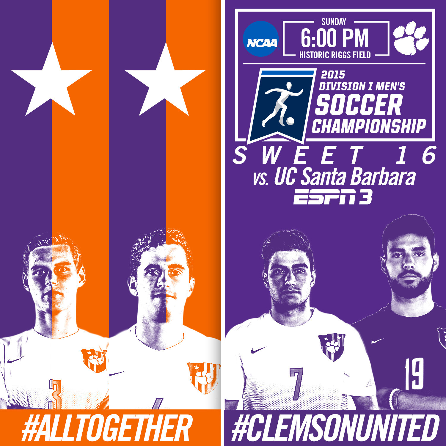 No. 2 Seed Tigers Host No. 15 Seed UCSB in NCAA Sweet 16 Sunday