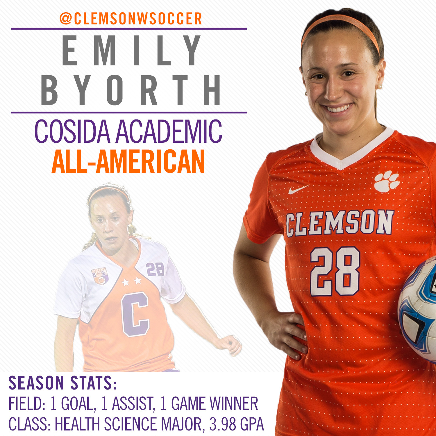 Emily Byorth Earns Academic All-American Honors