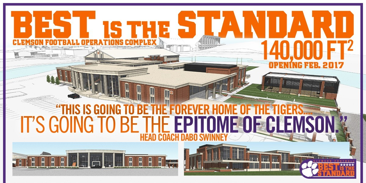 Clemson Holds Groundbreaking Ceremony for New Football Complex