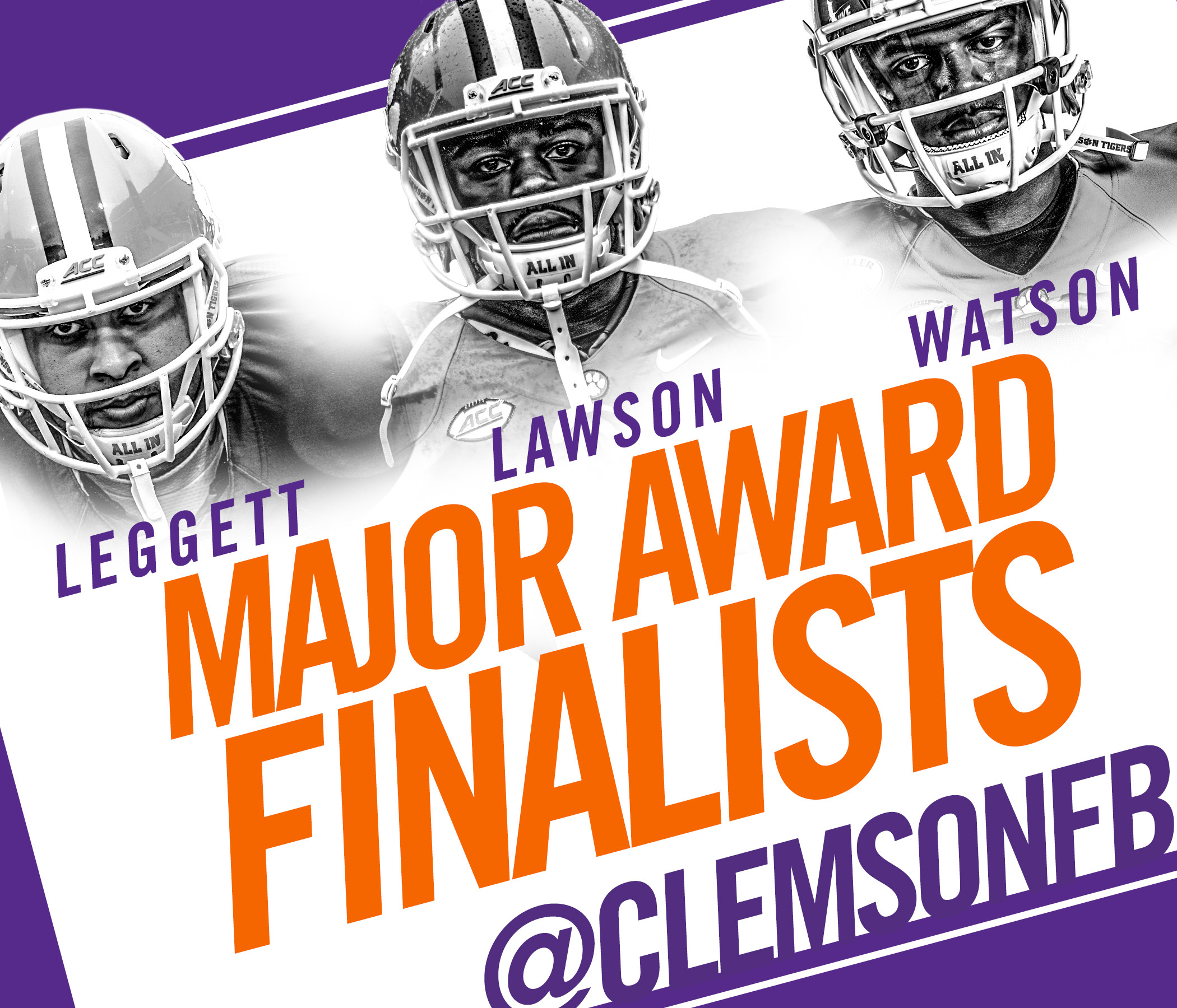 Watson and Leggett Join Lawson as Award Finalists
