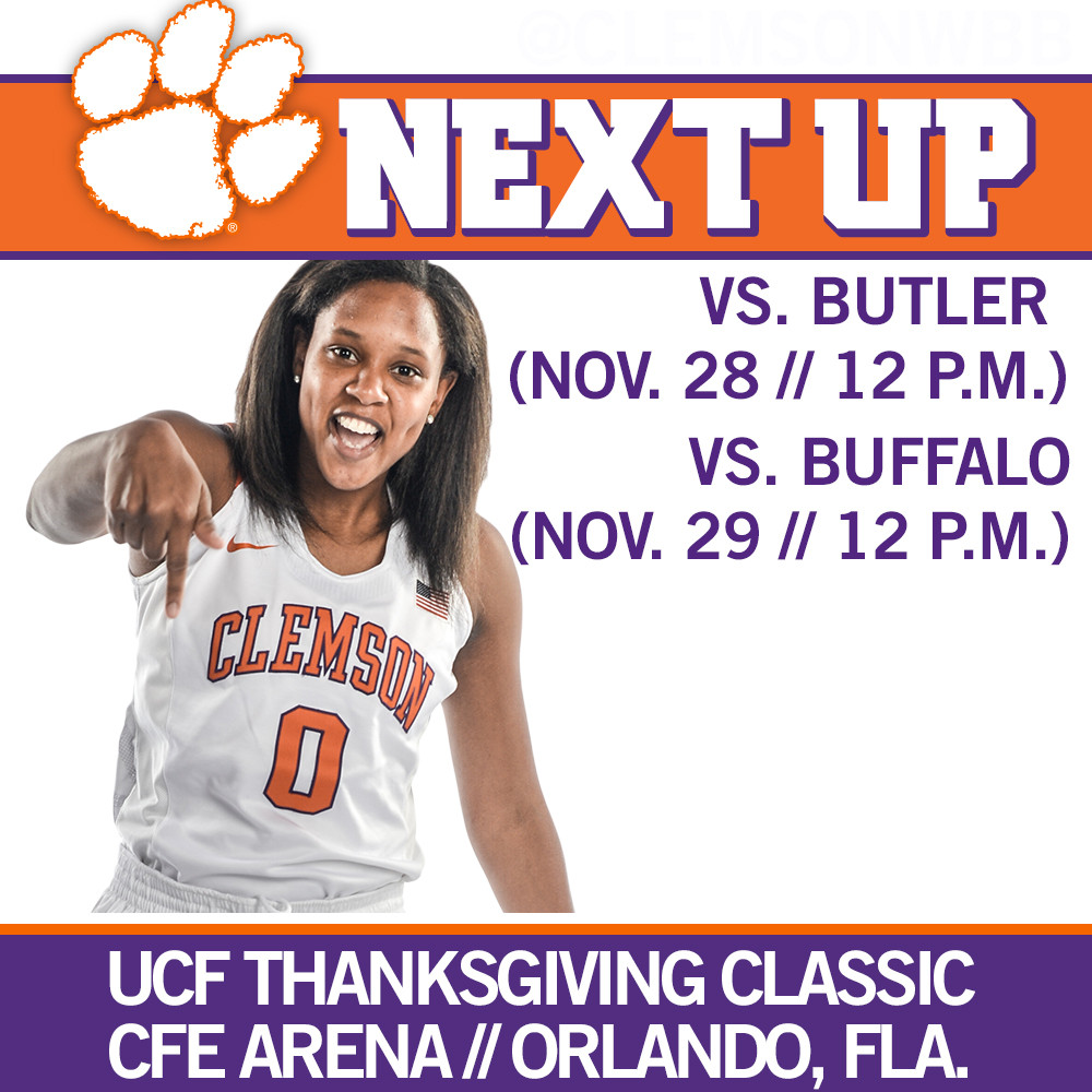 Clemson to Compete in UCF Thanksgiving Classic This Weekend