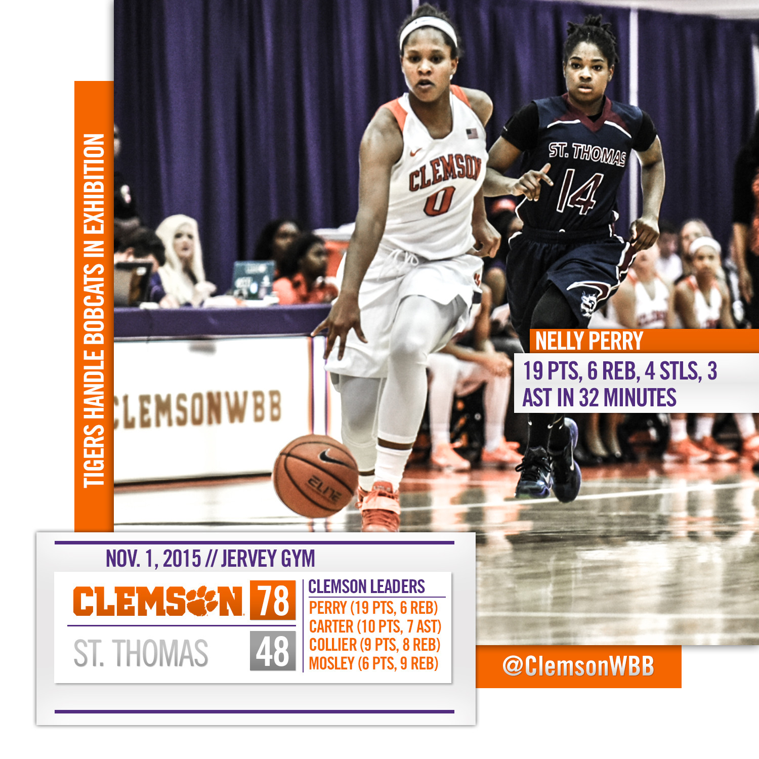 Clemson Handles St. Thomas in Exhibition