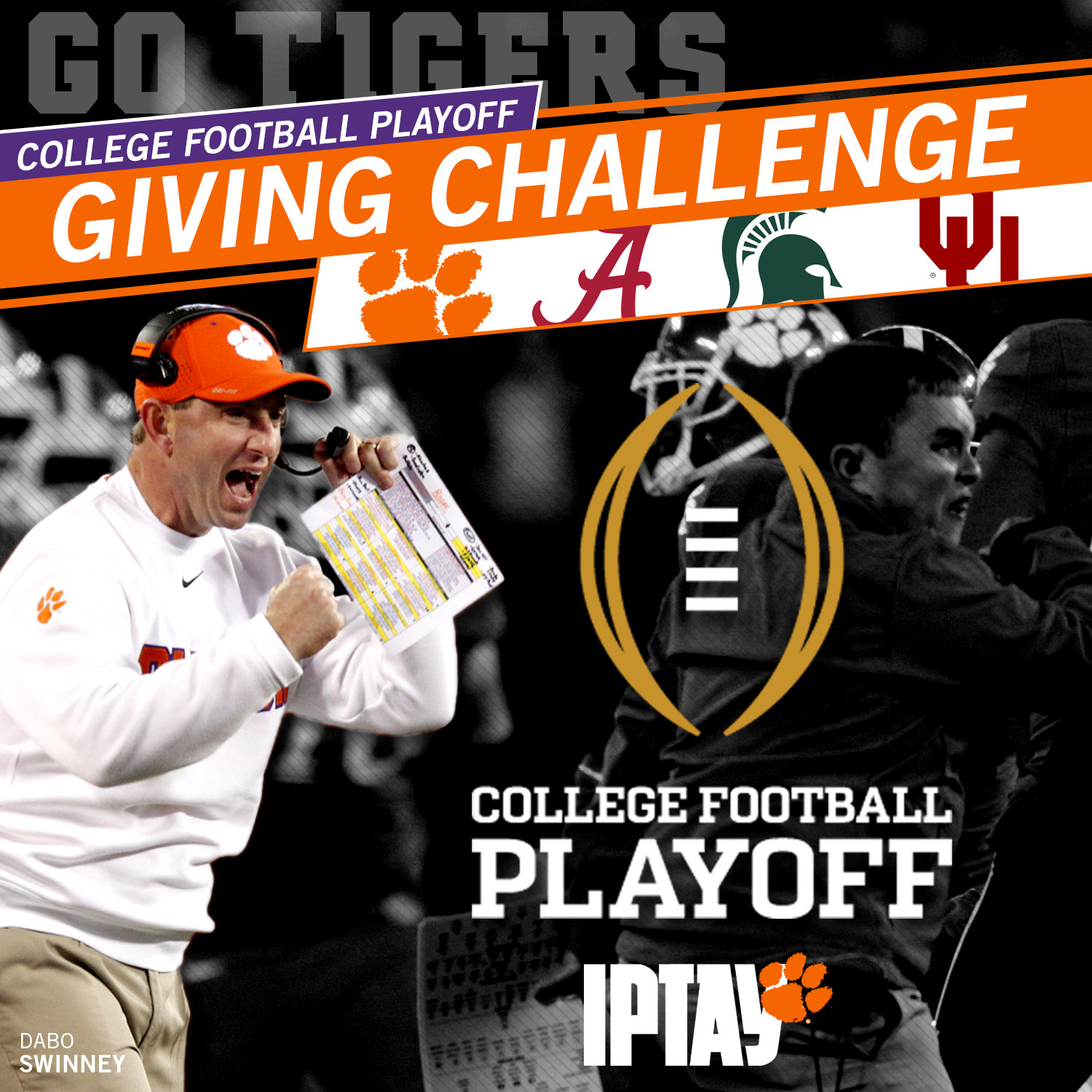 Giving Challenge Announced For College Football Playoff