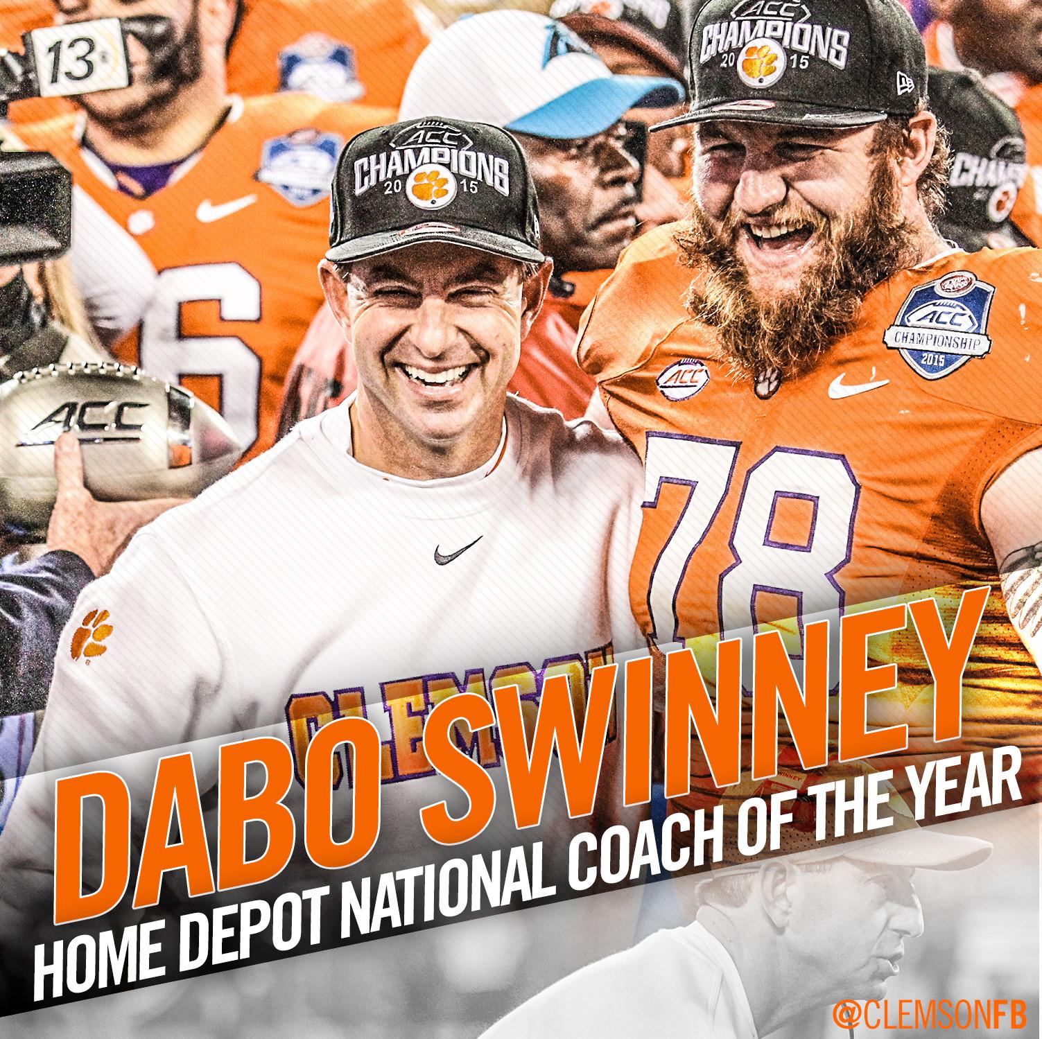 Dabo Swinney ? Coach of the Year