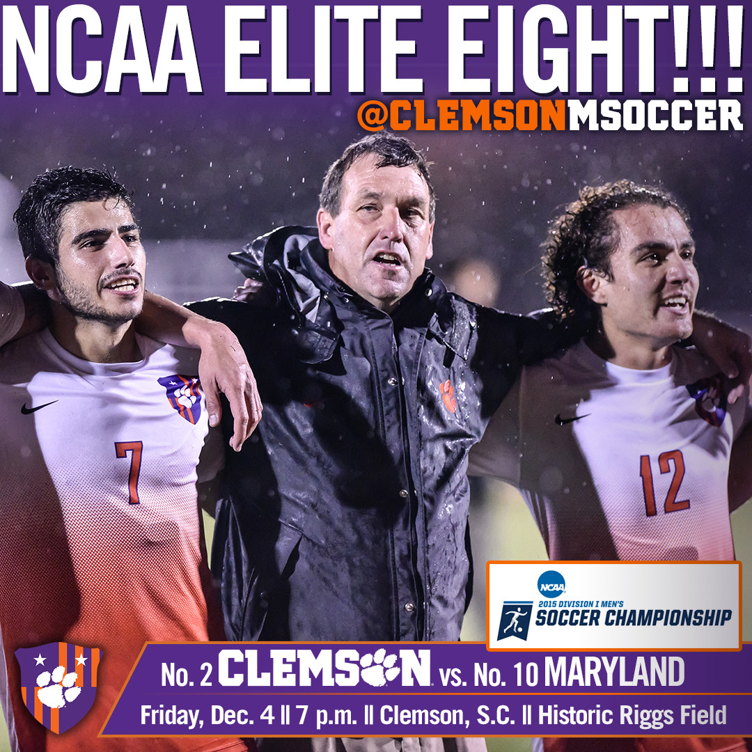 No. 2 Clemson Hosts No. 10 Maryland in NCAA Elite Eight Friday