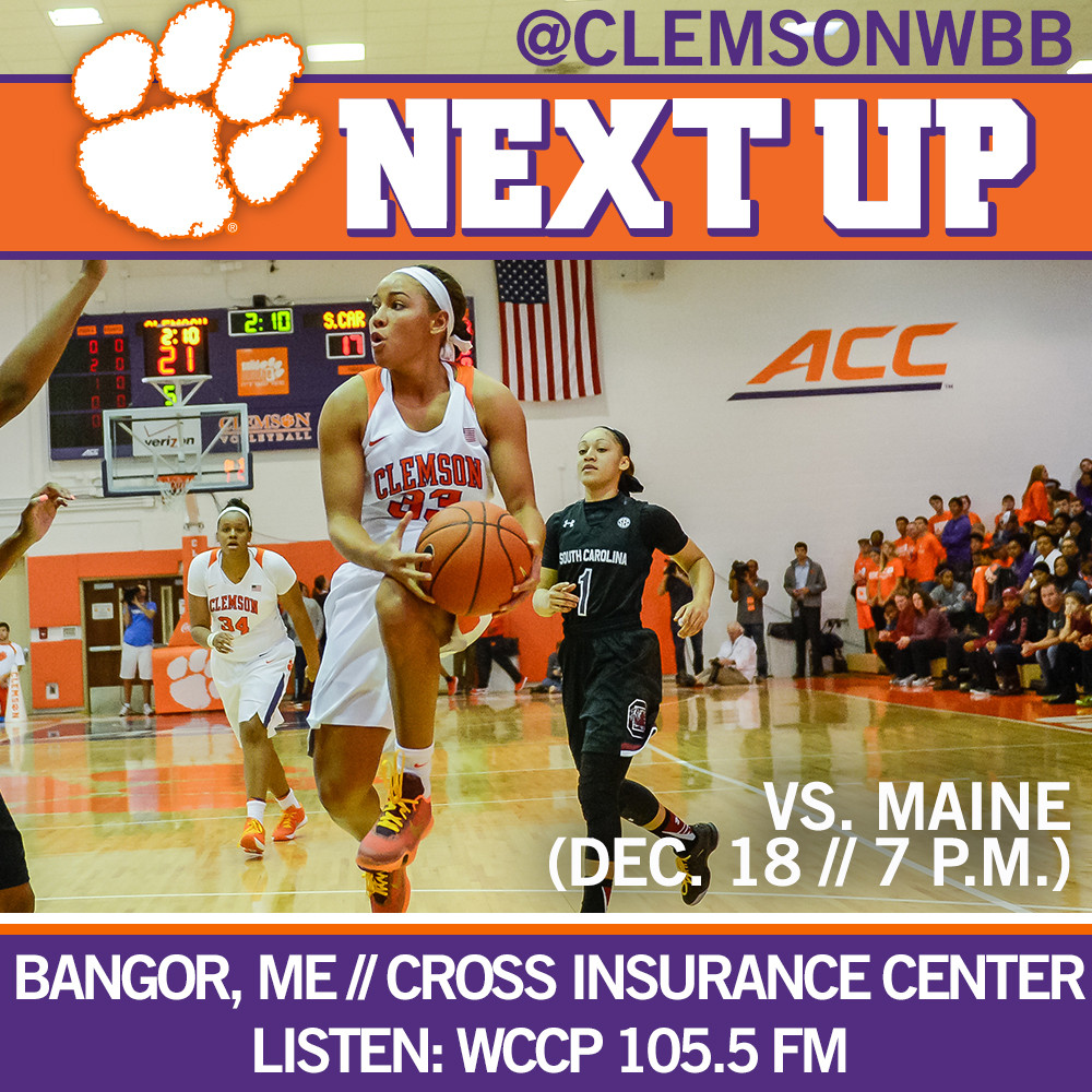 Clemson Travels to Maine for Second Consecutive Road Contest