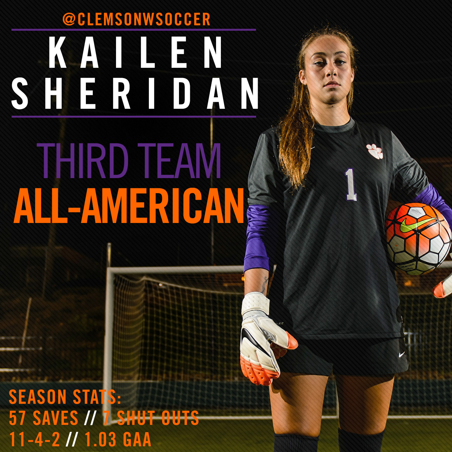 Sheridan Earns All-American Honors