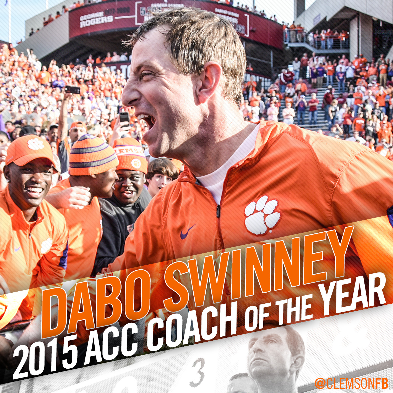 Dabo Swinney Named ACC Coach of the Year