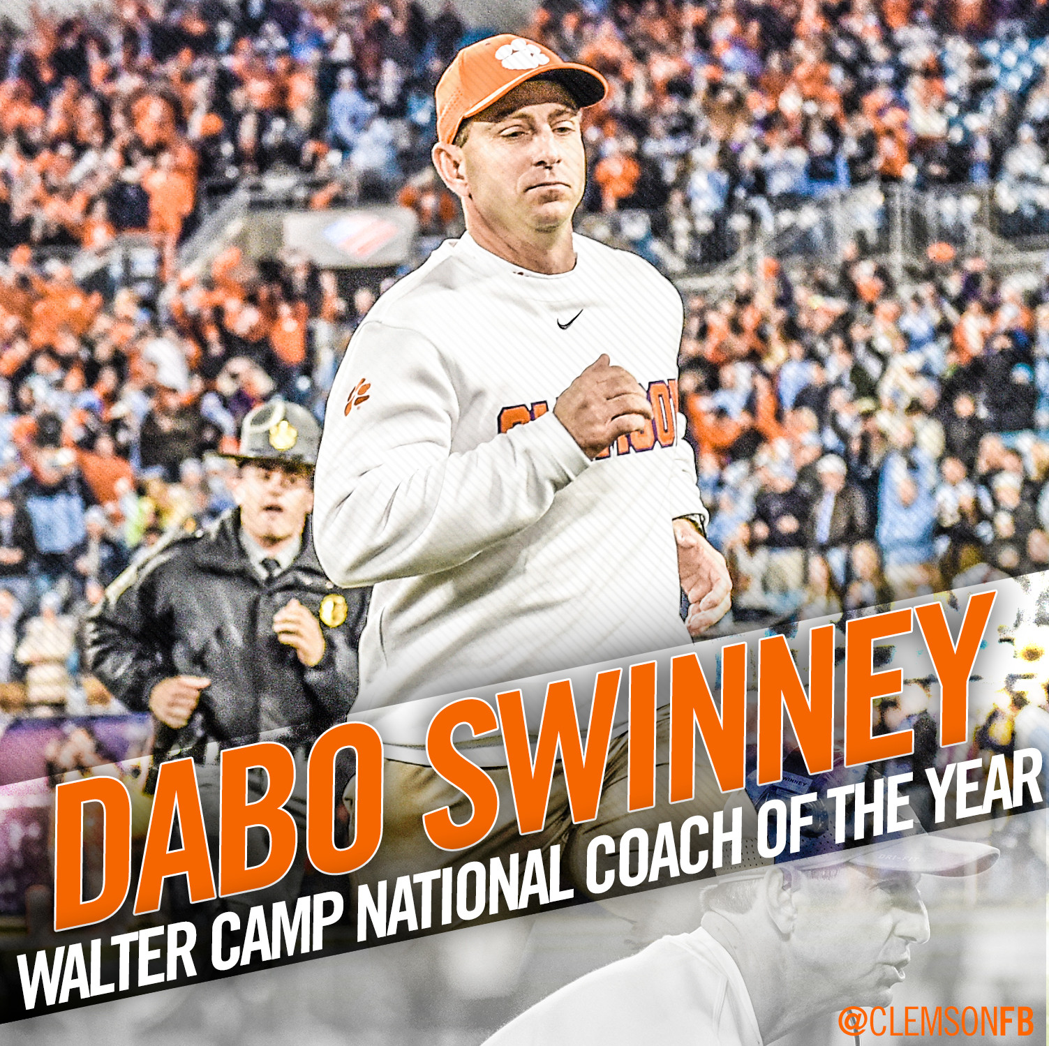 Swinney National Coach of the Year by Walter Camp Foundation