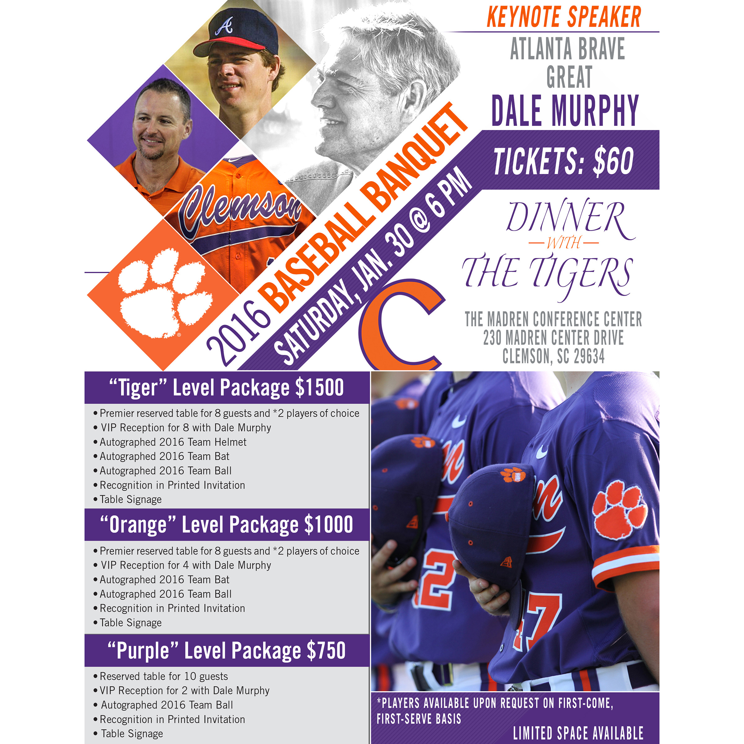 Tickets Available For Baseball Banquet To IPTAY Members