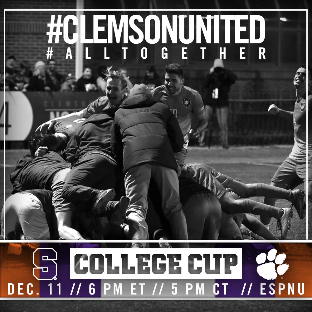 Clemson Heads to College Cup, Faces Syracuse in Semifinal Friday