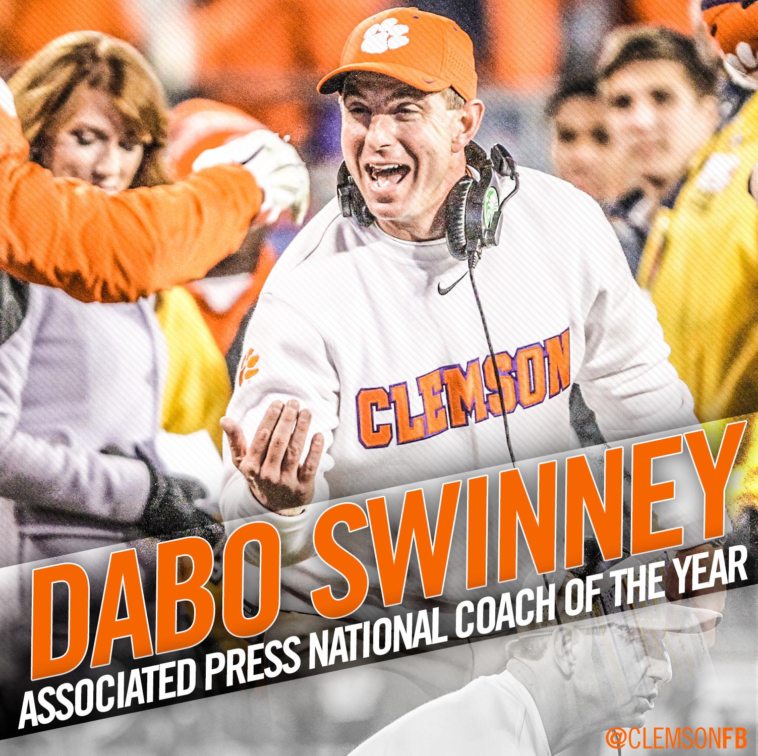 Swinney Named AP National Coach of the Year