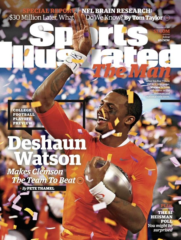 Deshaun Watson Featured on 2nd Sports Illustrated Cover