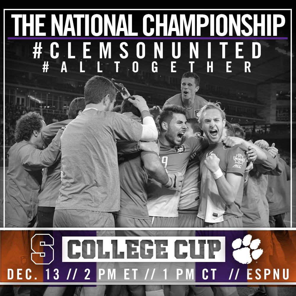 Clemson Faces Stanford in College Cup Final Sunday