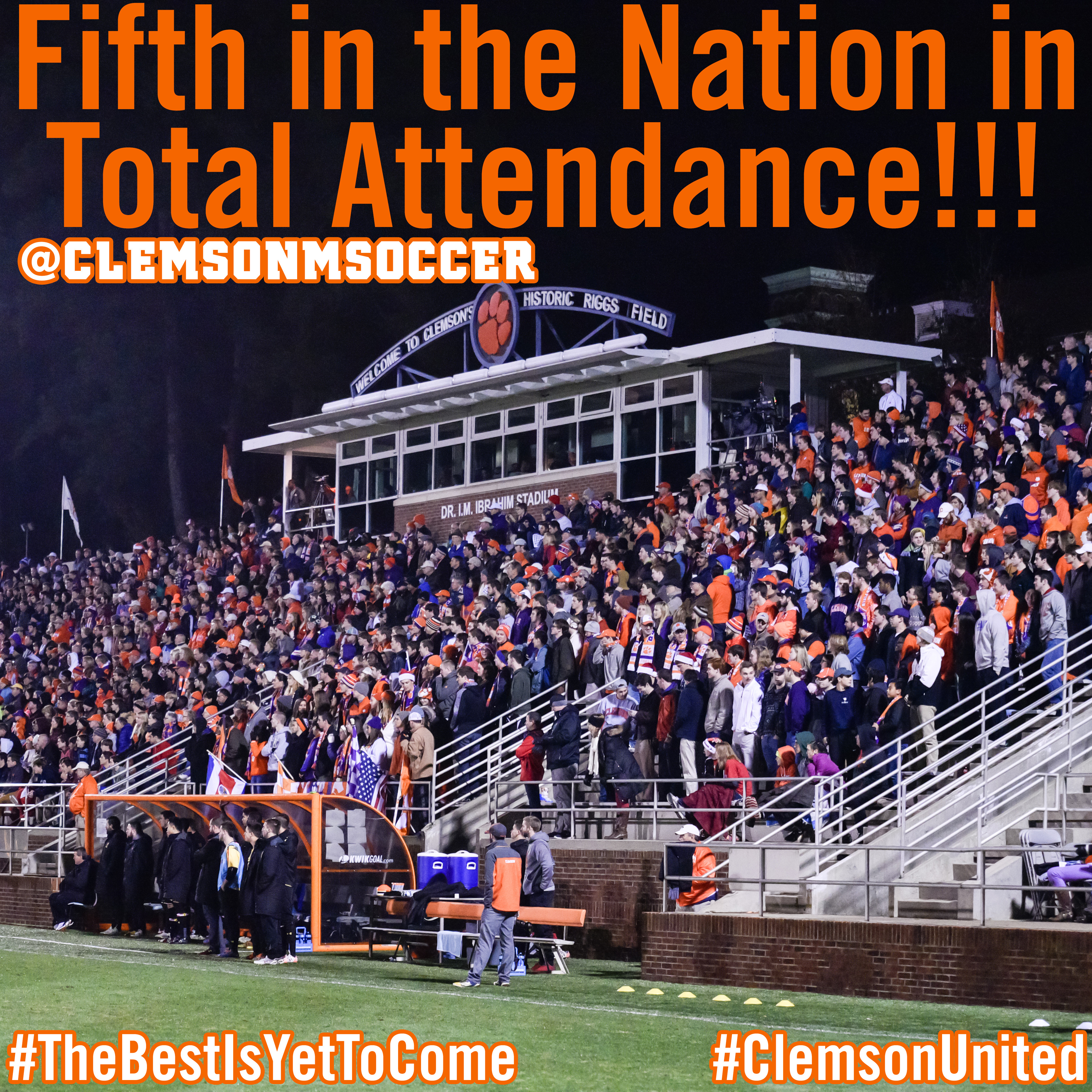 Clemson Finishes Fifth Nationally in Home Attendance