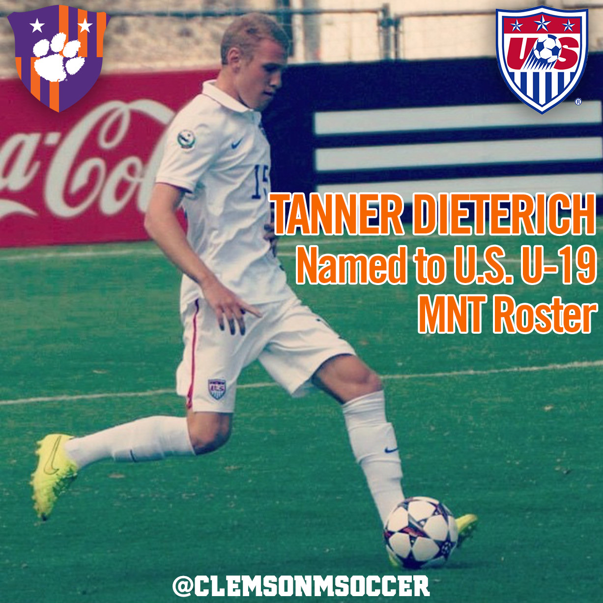 Dieterich Named to U.S. U-19 MNT Roster