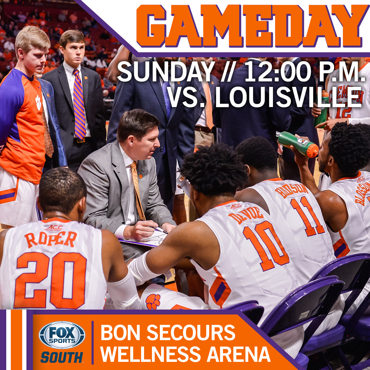 Clemson Takes on No. 16 Louisville