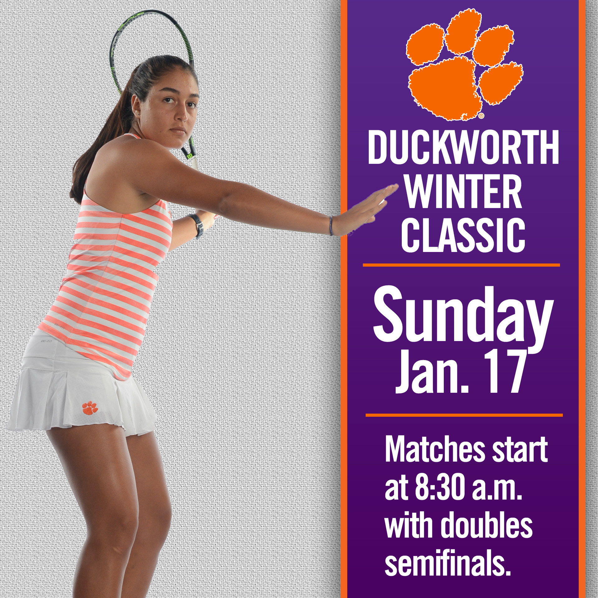 Four Tigers Set for Singles Flight Championships on Sunday