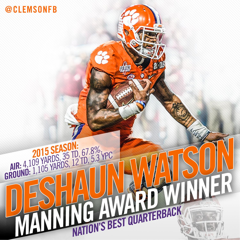 Watson Wins Manning Award
