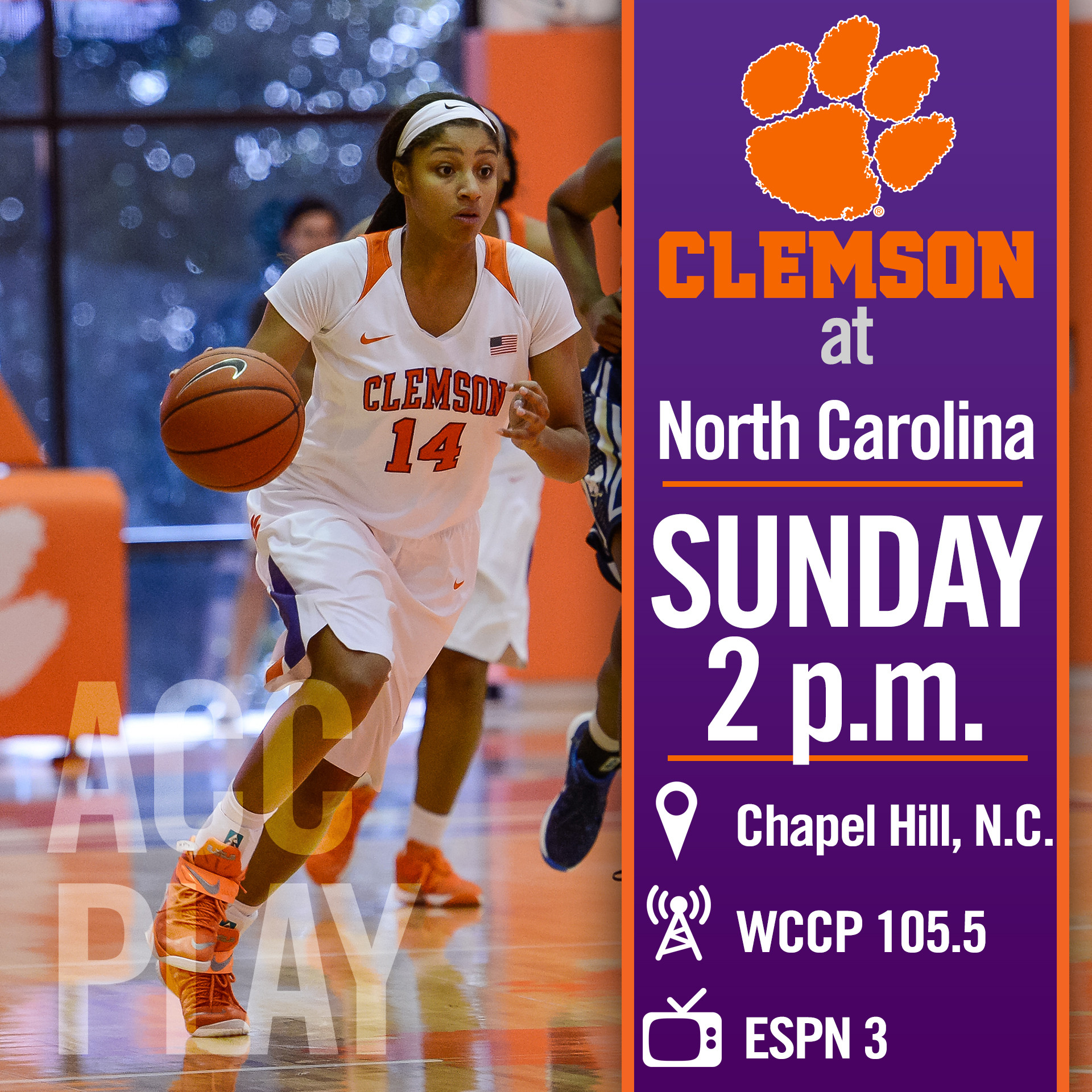 Clemson Opens ACC Play at North Carolina