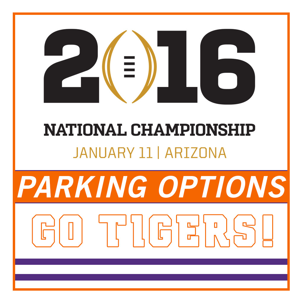 National Championship Parking Available For Purchase
