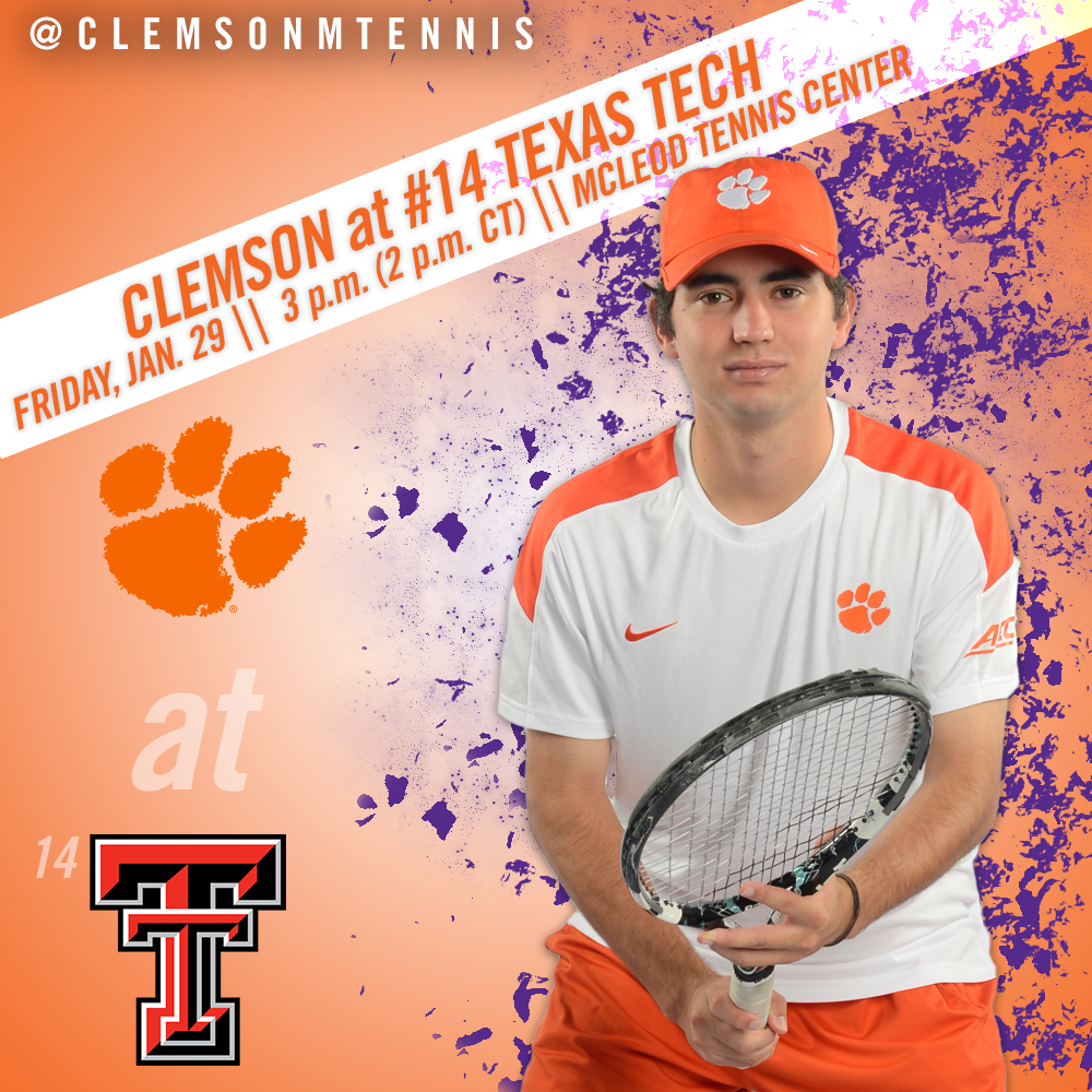Clemson Travels to Lubbock to Face #14 Texas Tech