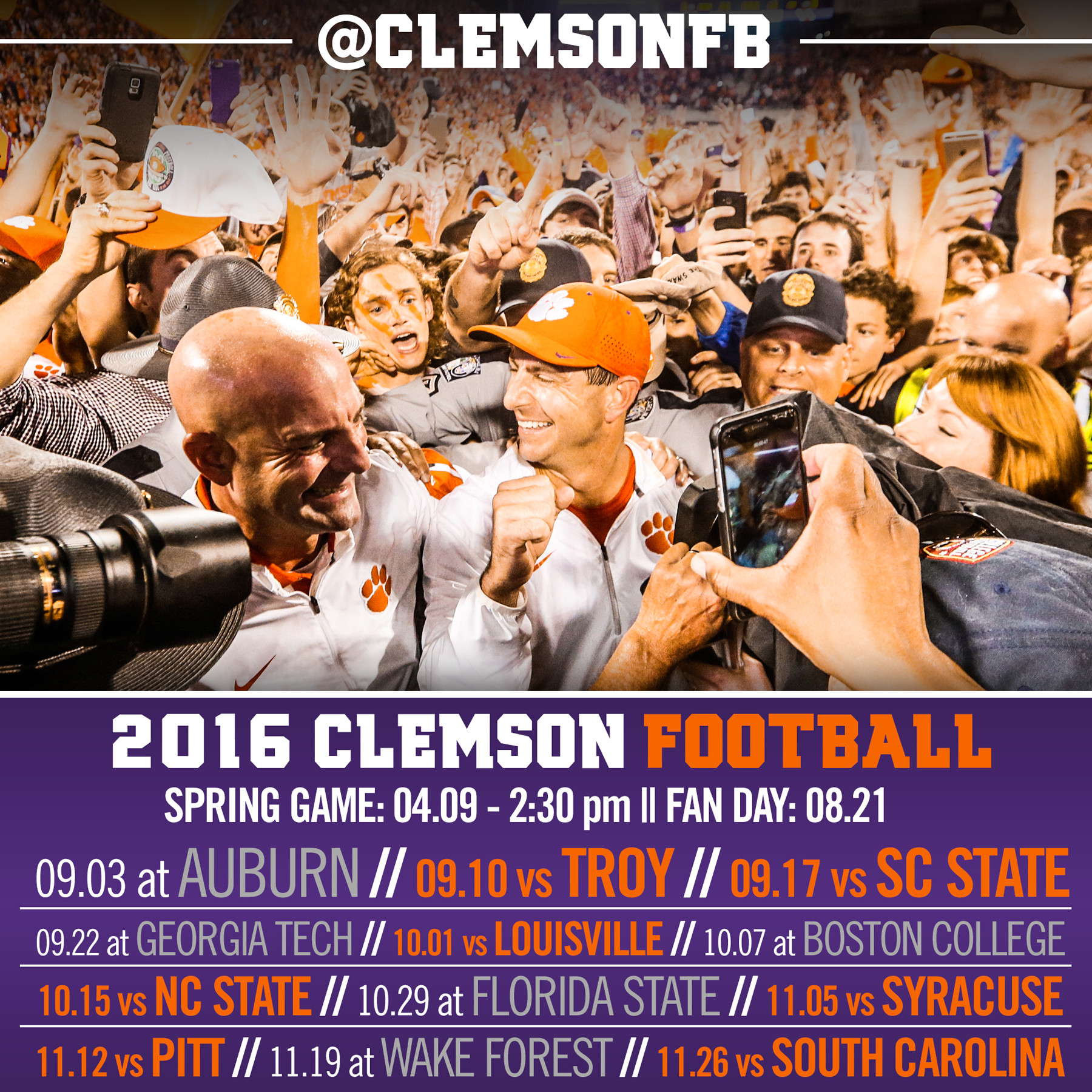 Download: ClemsonFB Lock Screens