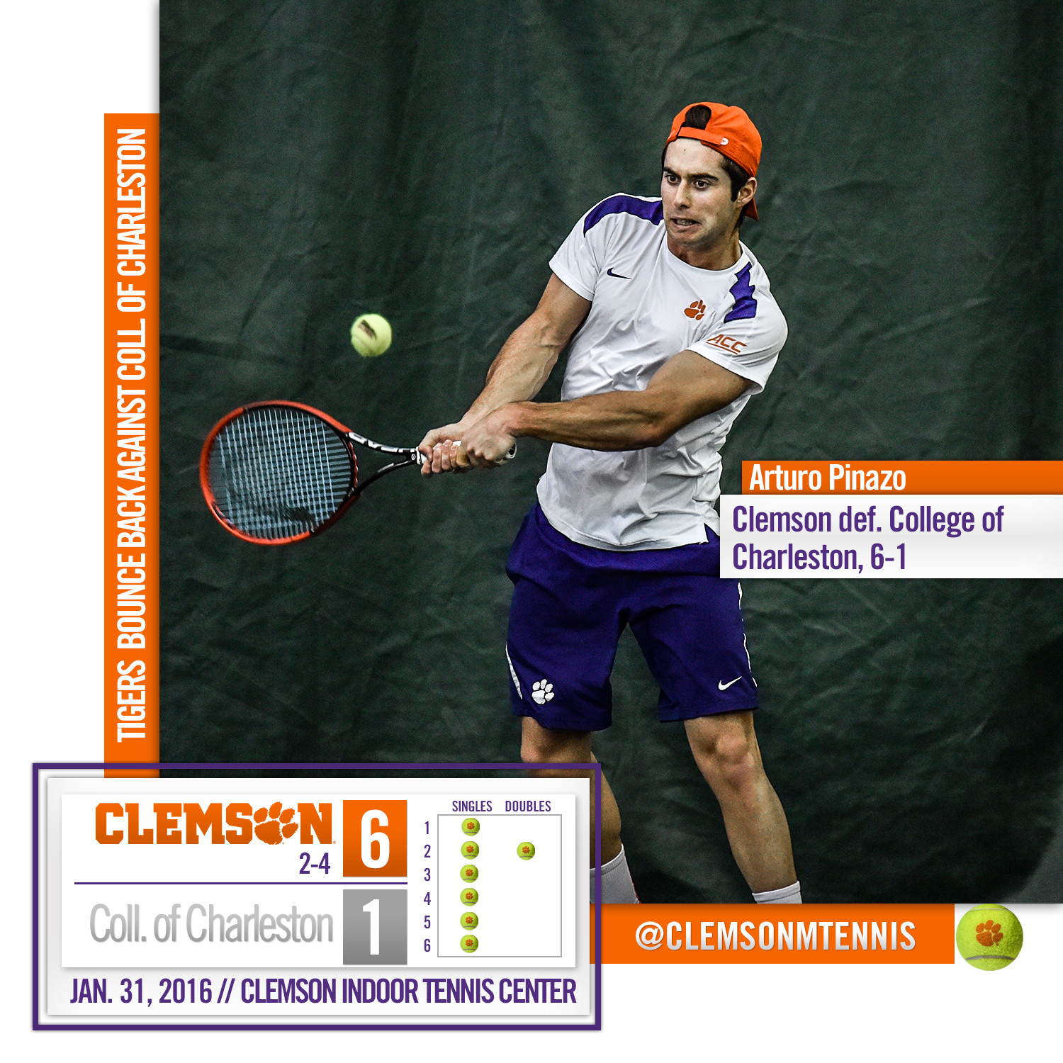 Tigers Bounce Back Against College of Charleston