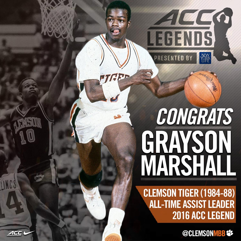 Marshall Named Clemson?s 2016 ACC Legend