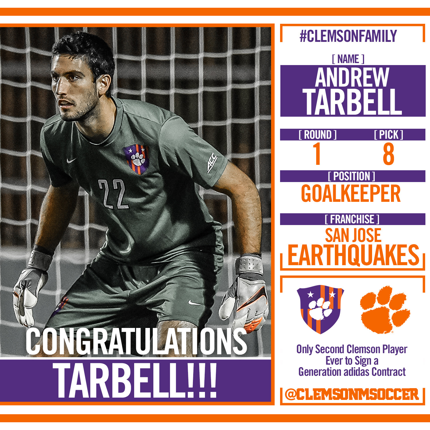 Three Tigers Selected in MLS SuperDraft First & Second Rounds