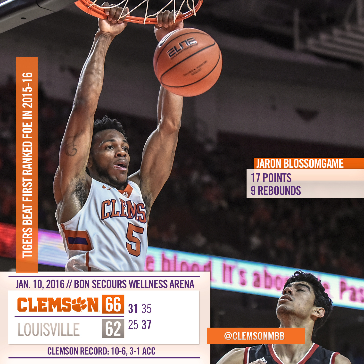 Tigers Knock Off No. 16 Louisville, 66-62
