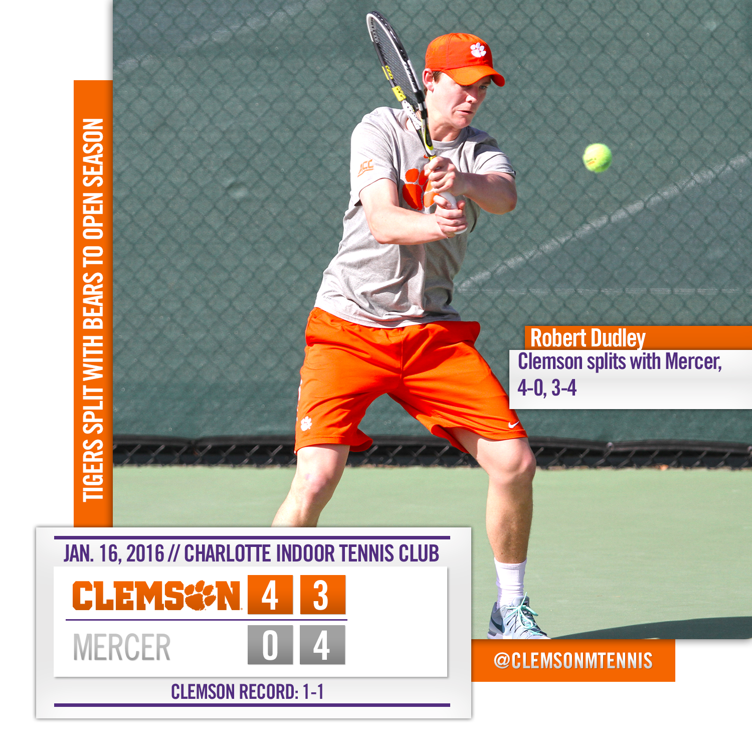 Tigers Split with Mercer to Open Season