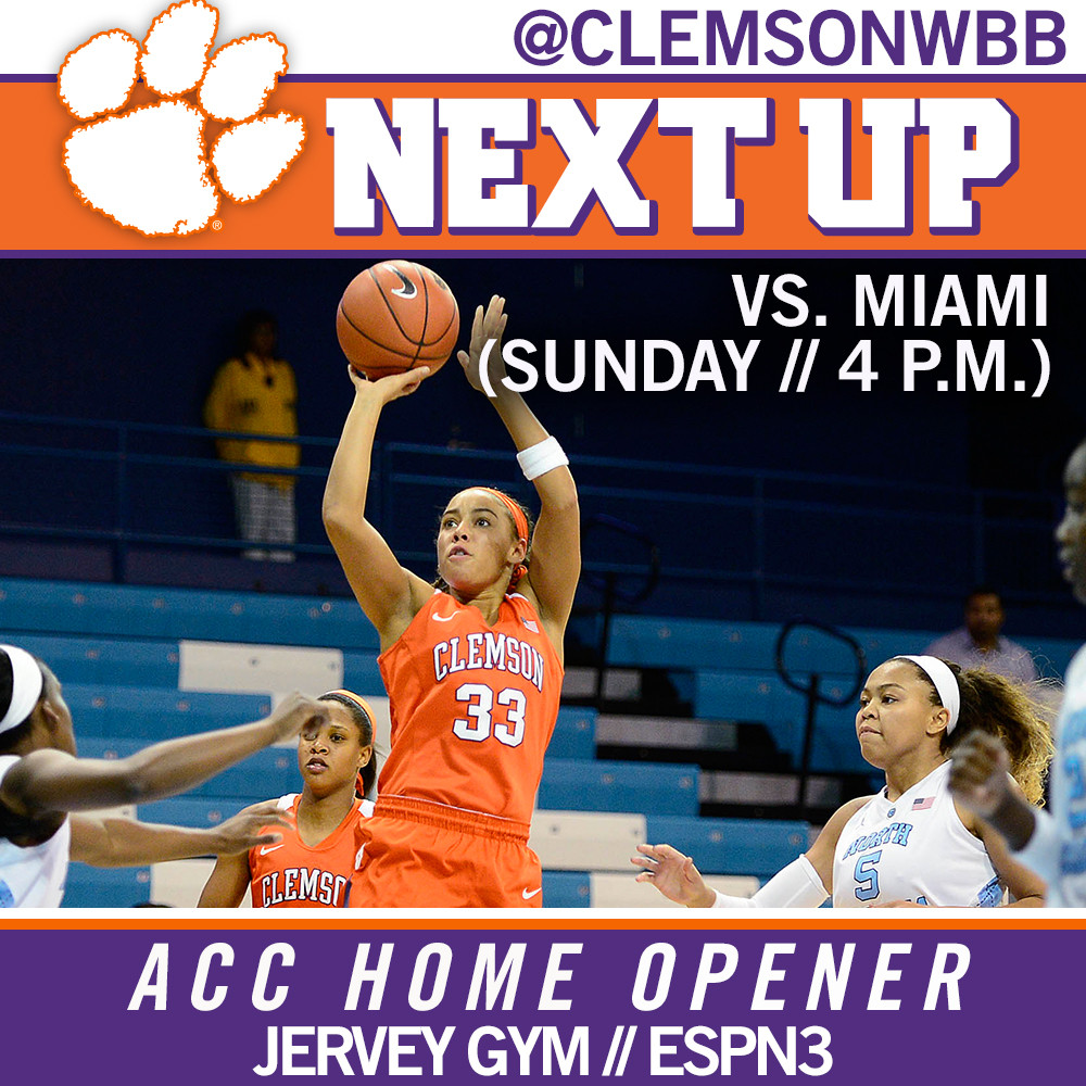 Lady Tigers Host Miami in ACC Home Opener