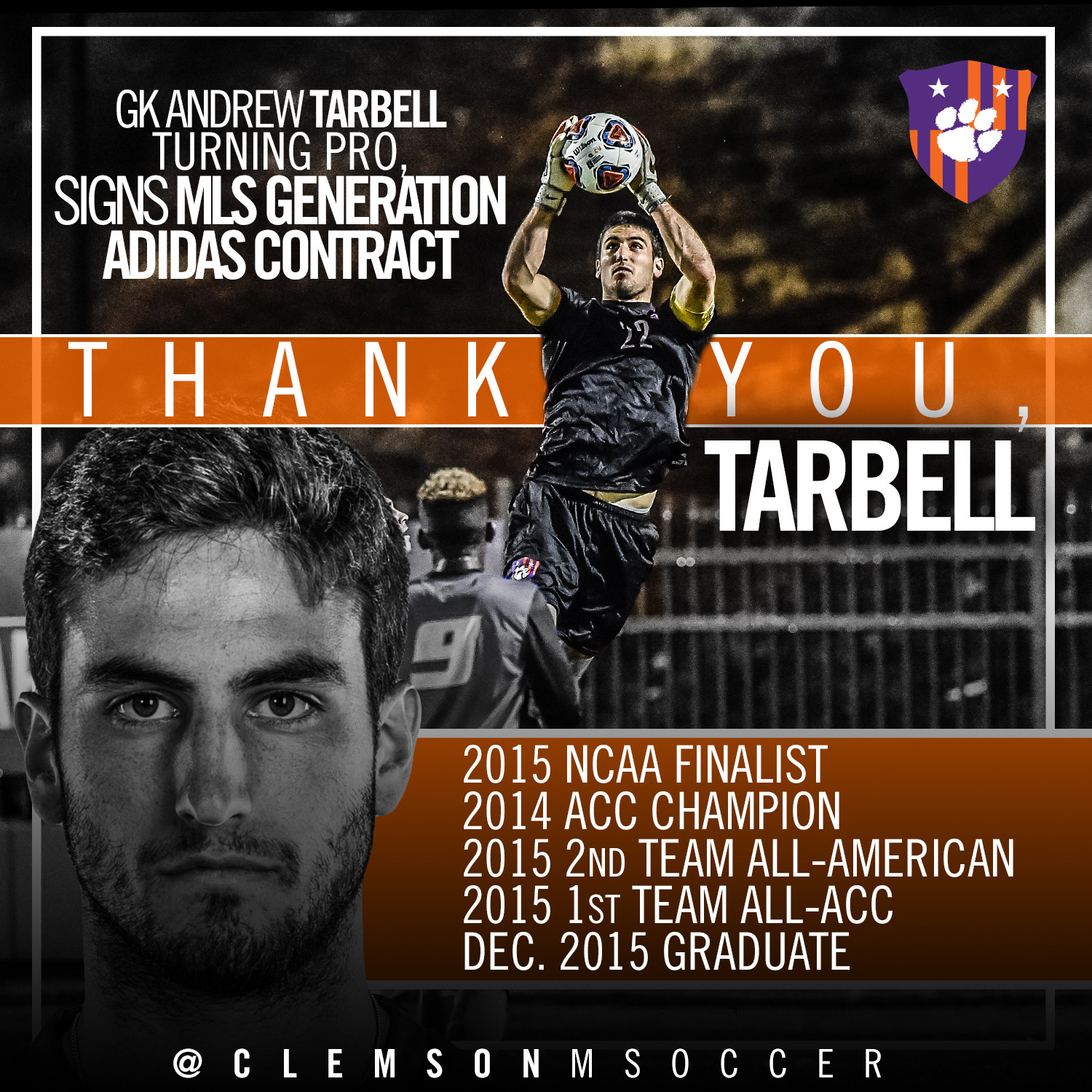 Tarbell Signs Generation adidas Contract