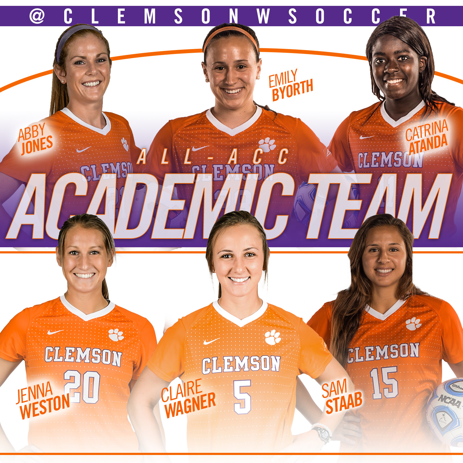 Six Tigers Named to All-ACC Academic Team