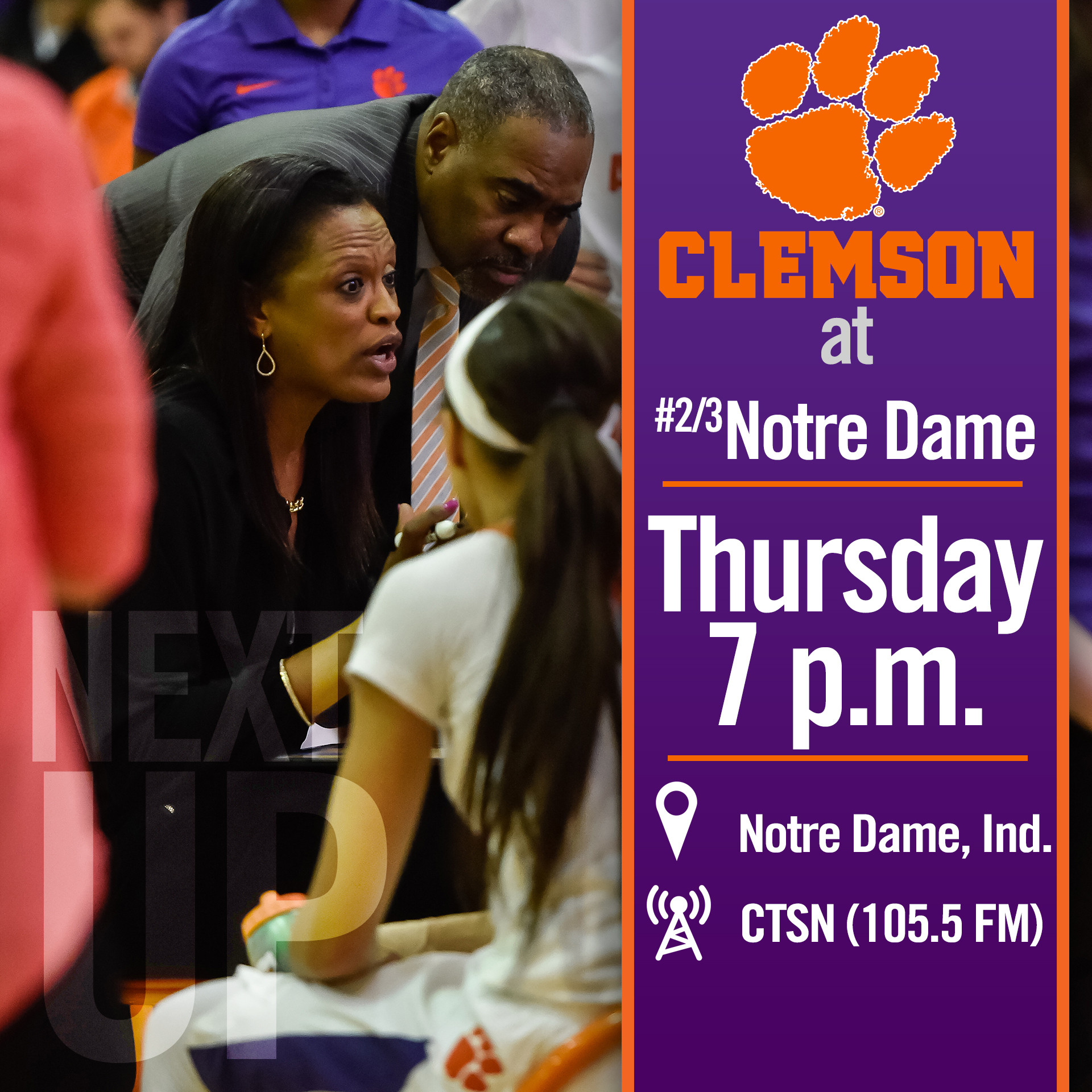 Clemson Travels to Notre Dame