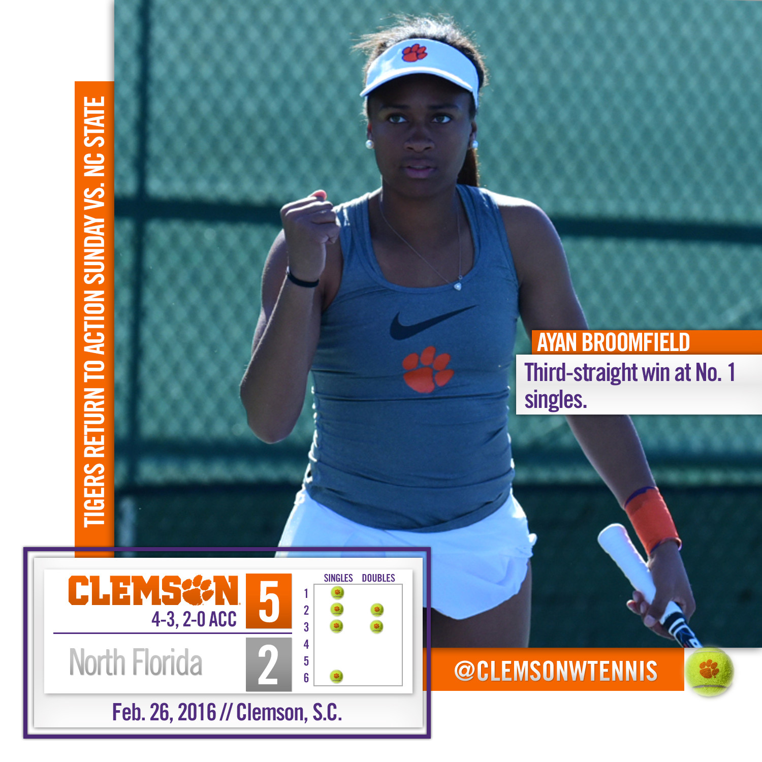 Tigers Down North Florida 5-2 Friday