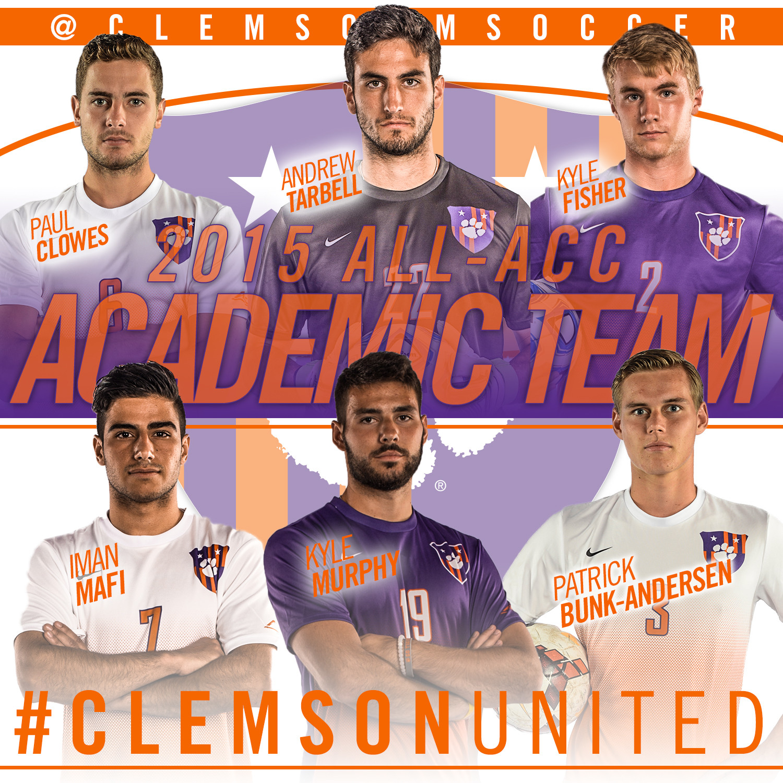 Six Tigers Earn All-ACC Academic Honors