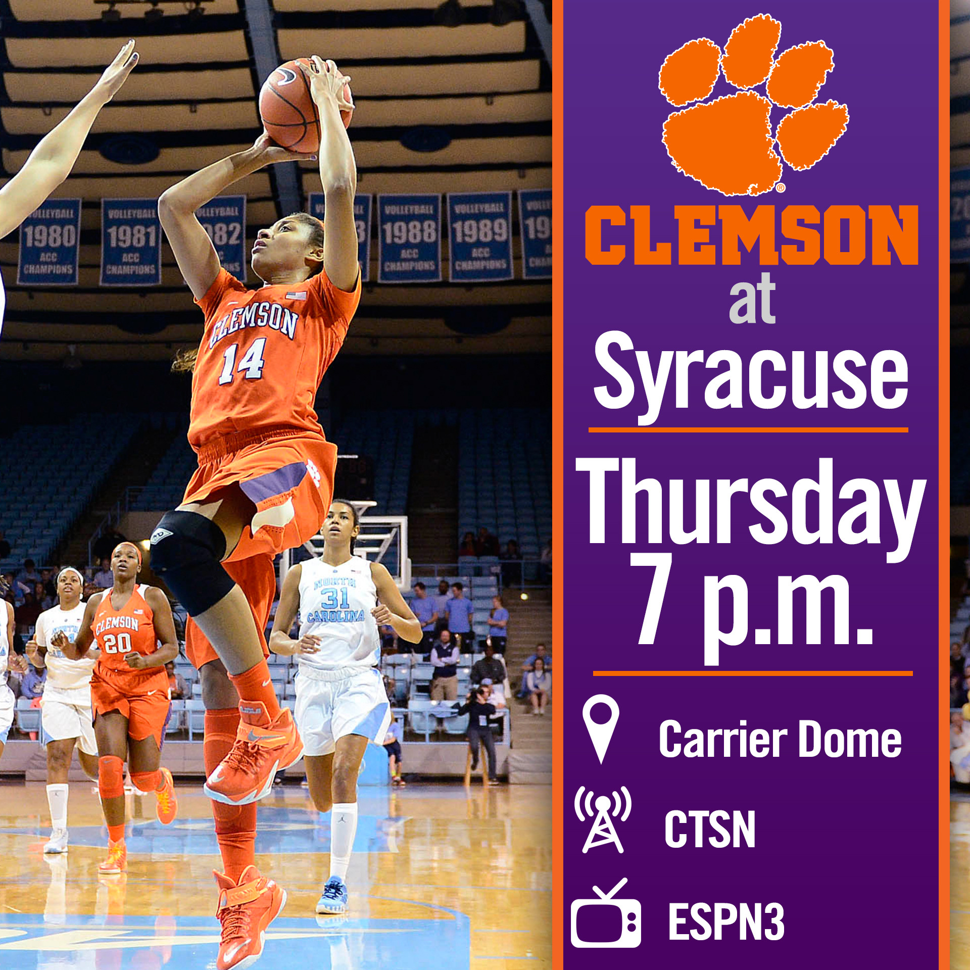 Clemson Travels North to Syracuse
